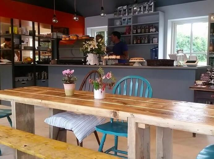 inside emmas cafe in birr