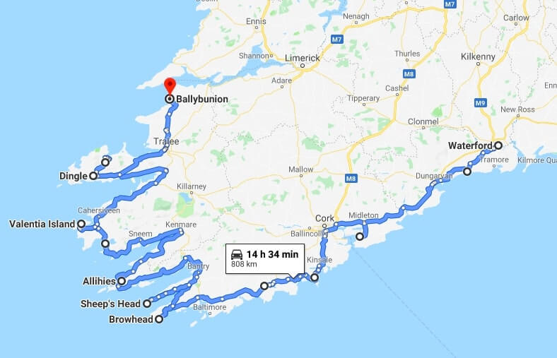 one week in ireland second route