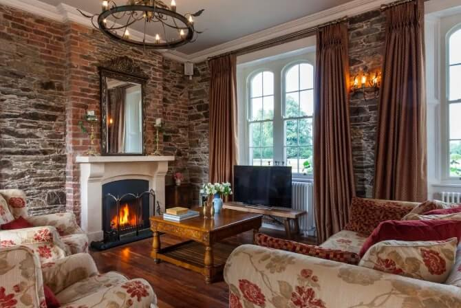 a cosy living are at wilton castle