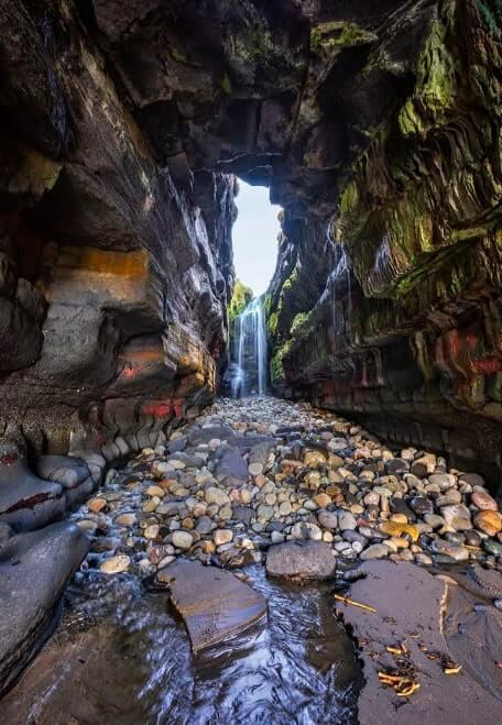hidden waterfall donegal