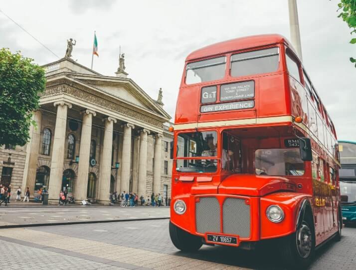 G&T bus tour in dublin