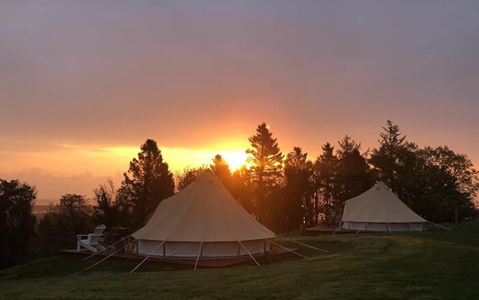 Knockrobin Glamping at sunset