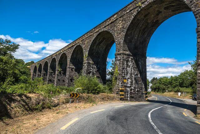 Cycling past the Kilmacthomas Viaduct