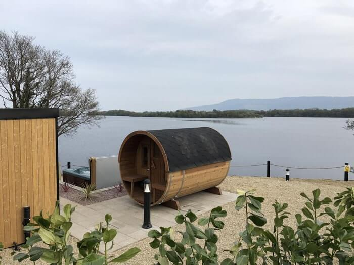 the sauna from the outside