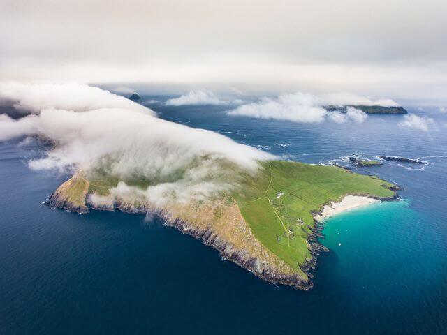great blasket island aerial