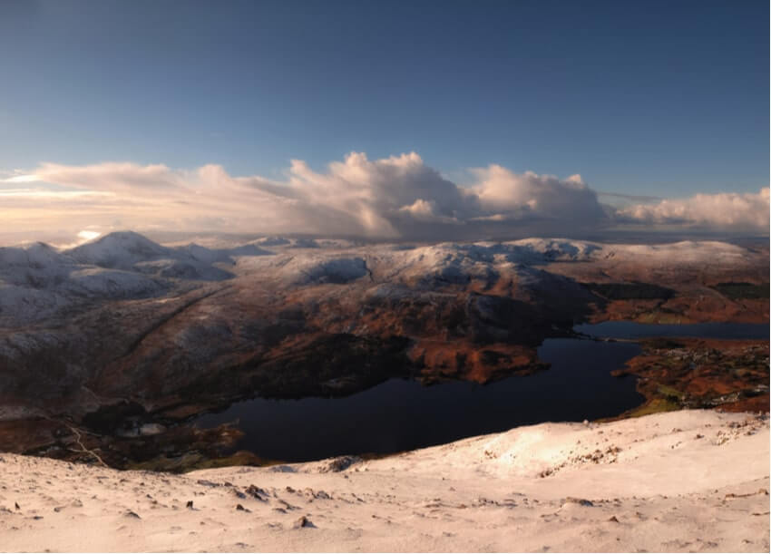 The view from Mount Errigal