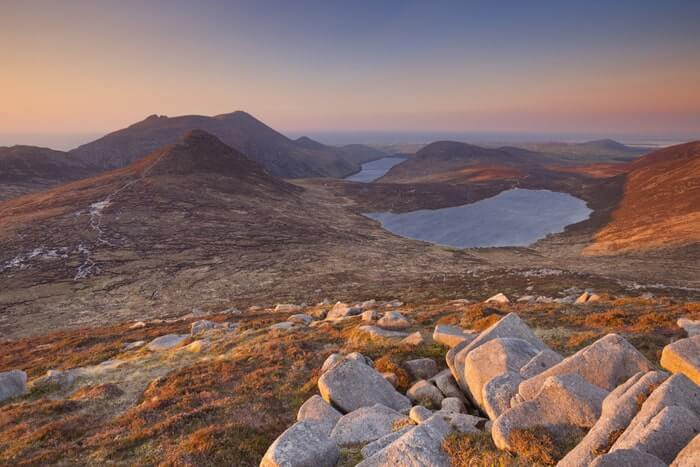 Slieve Loughshannagh in the mourne mountains