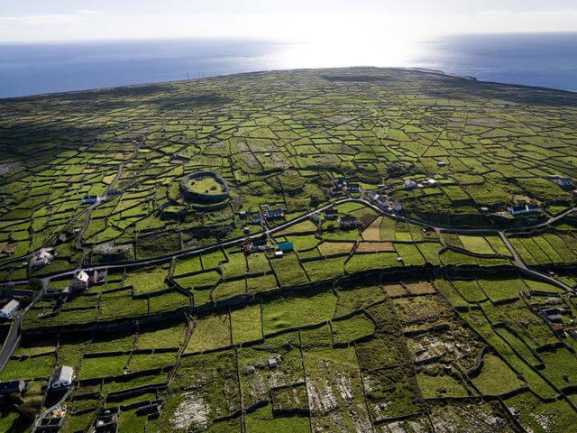 aerial shot of inis meain