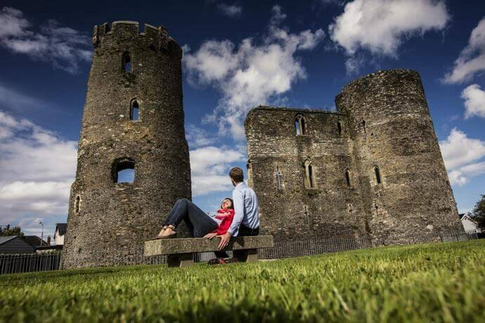 exterior of Ferns Castle in Wexford