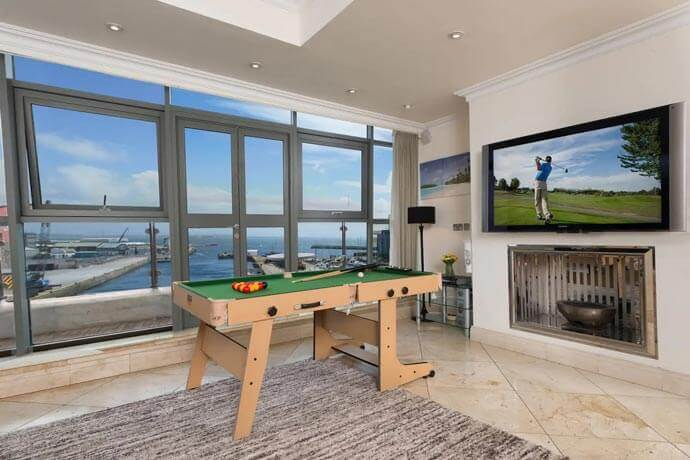 pool table with a view