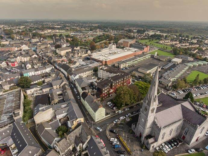 Ennis Cathedral from above