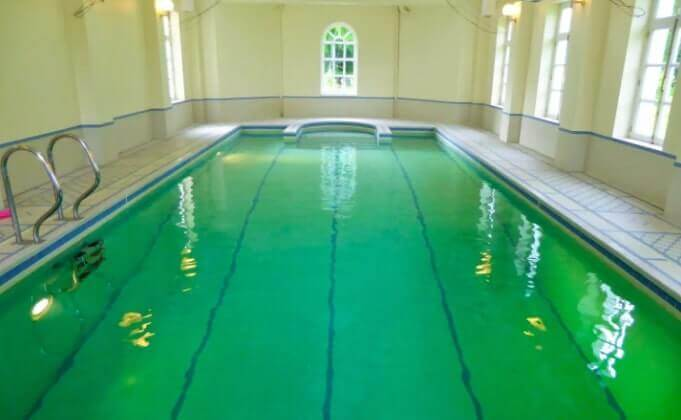 inside swimming pool