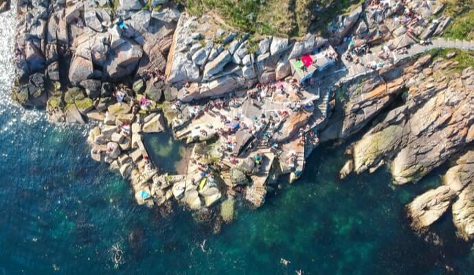 Ariel view Vico Baths