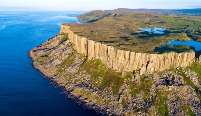 Ariel view of The Fair Head Cliffs