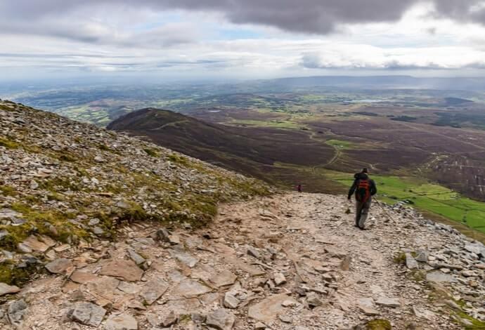 half way up the Croagh Patrick walk