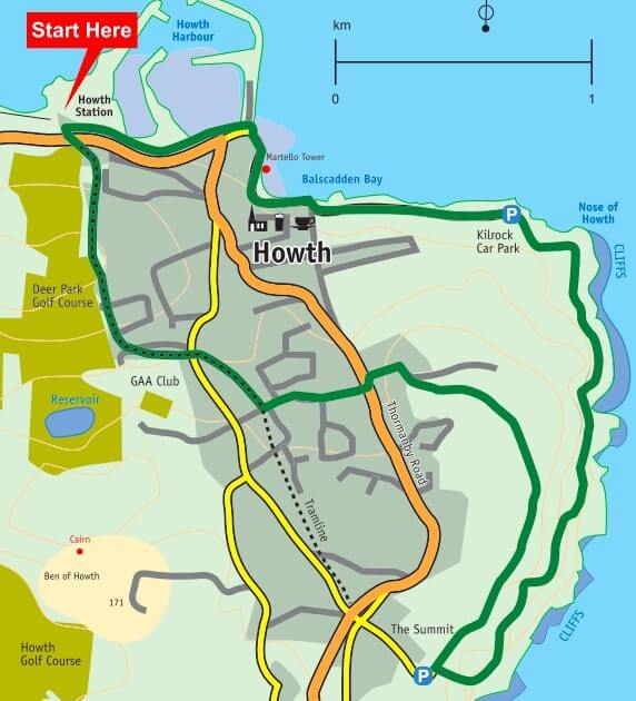howth cliff path route