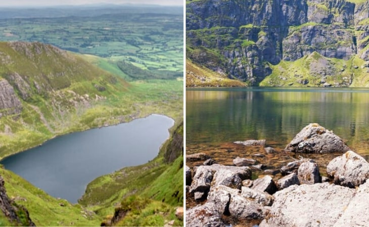 two photos of Coumshingaun