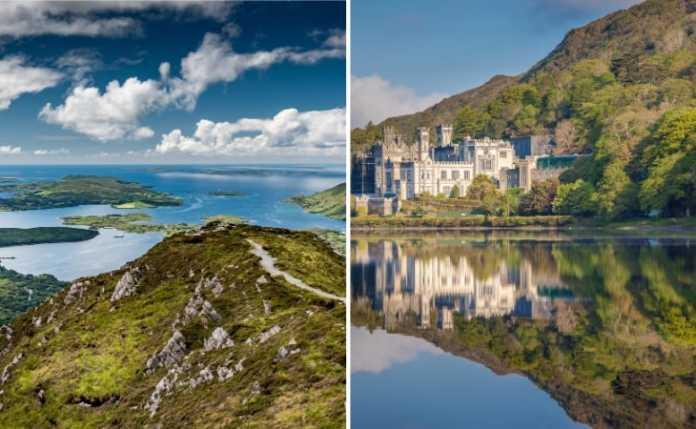 two photos of Connemara