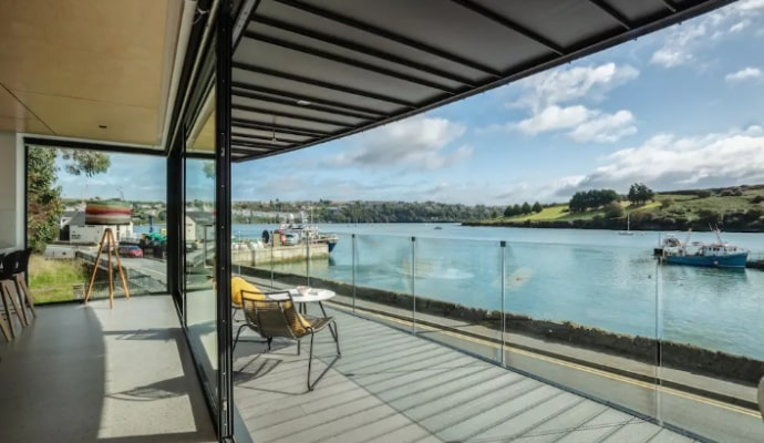 An incredible waterfront view from the dockhouse