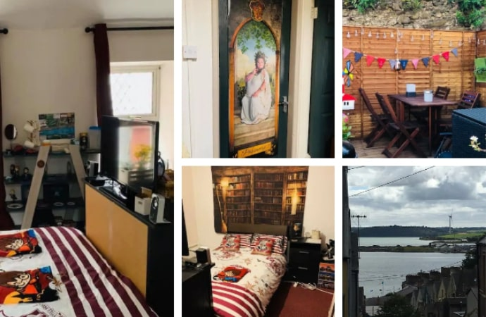Harry Potter style bedroom in house with sea view, County Cork
