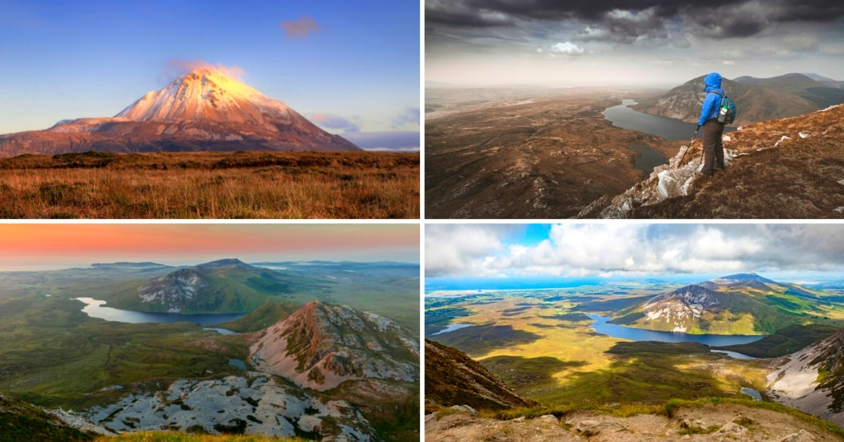 4 photos of Mount Errigal