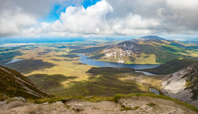 View from the top of Mount Errigal