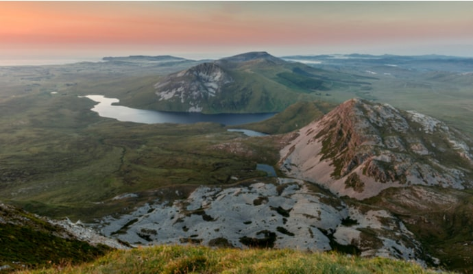 Errigal Mountain at sunset