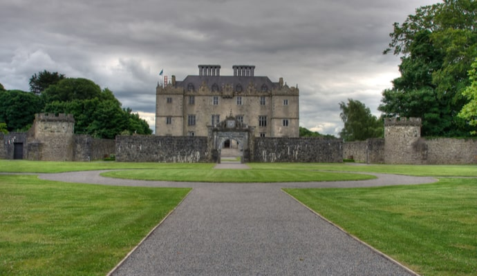 the front of Portumna castle in galway