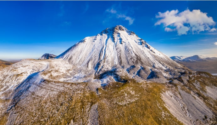 Aerial view of Mount Errigal