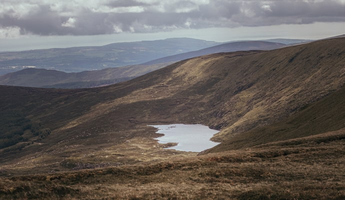climbing lugnaquilla mountain in county wicklow