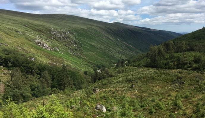 View on glenmalure valley in Wicklow mountain
