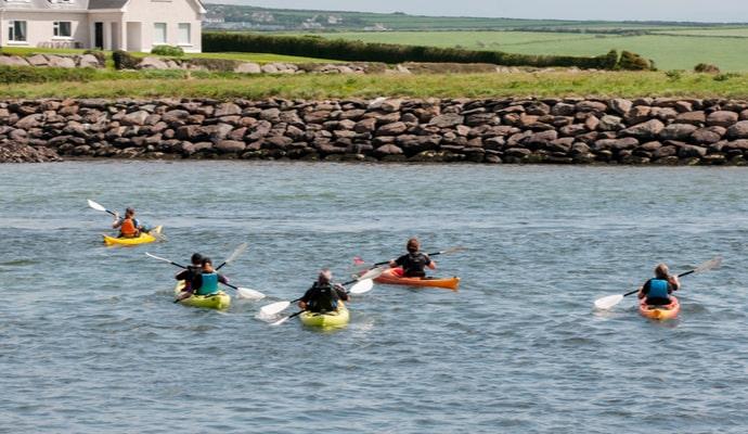 kayaking along the Irish coast