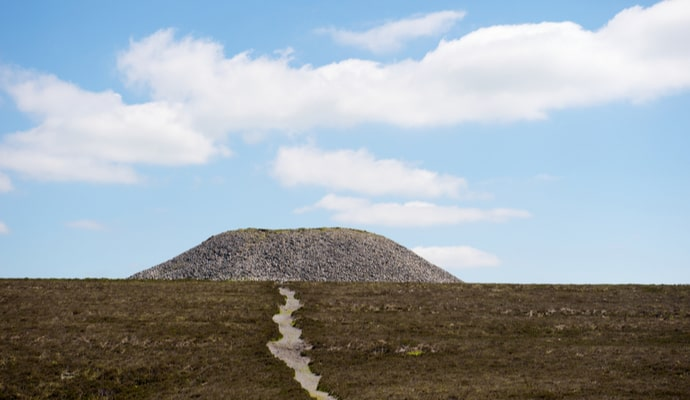 climbing Knocknarea mountain in Sligo