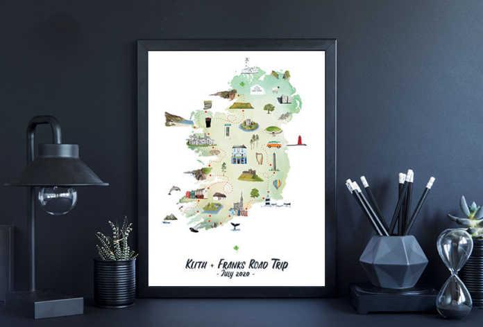 customisable map of ireland