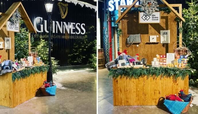 inside the Guinness Christmas market