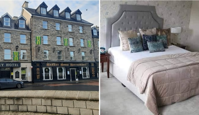 2 photos of the abbey hotel