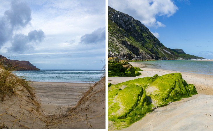 maghera beach and caves