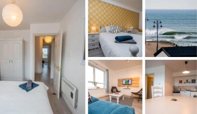 Central 2 bedroom apartment overlooking the beach
