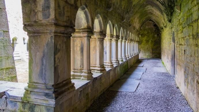 entering quin abbey