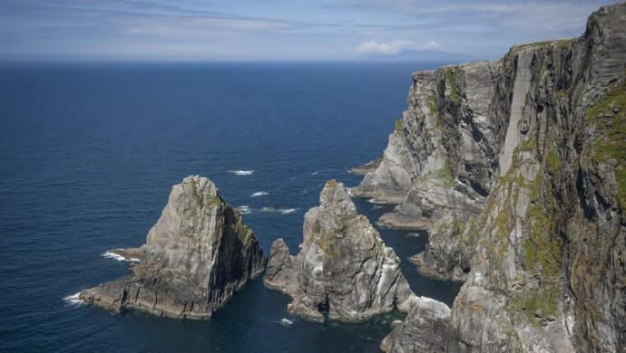the sea cliffs