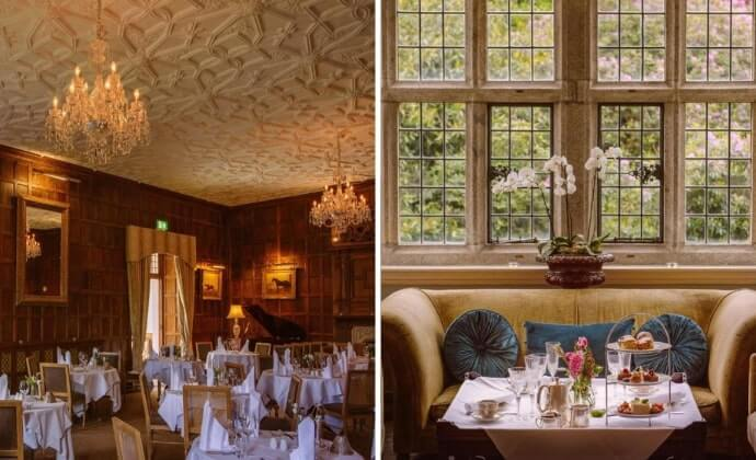 afternoon tea at Waterford Castle
