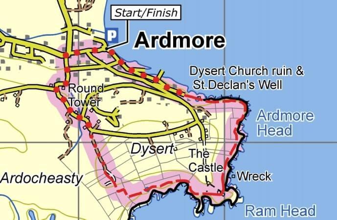 ardmore cliff walk map