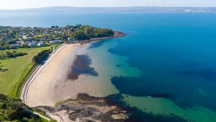 closest beach to belfast