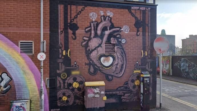 Keep Her Lit street art