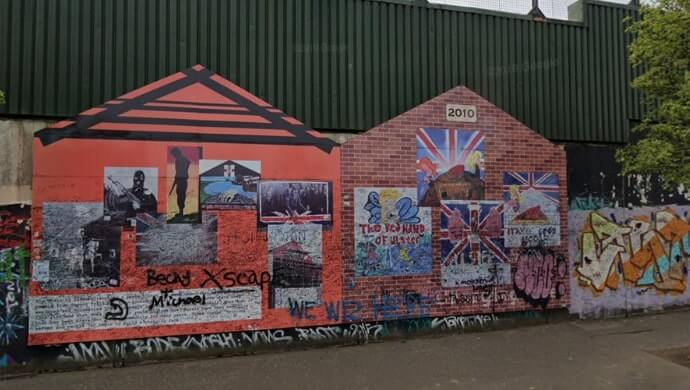 seeing the belfast peace wall murals
