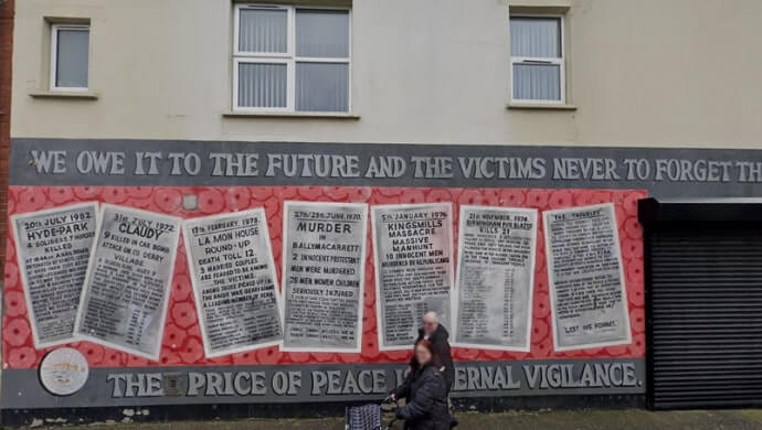 Protestant Victim mural