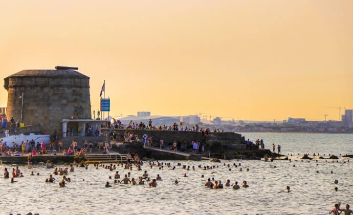 swimming at seapoint