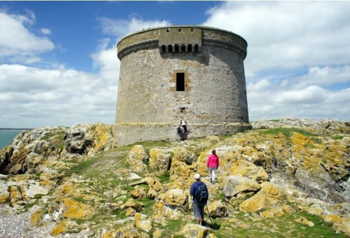 martello tower on Ireland's eye